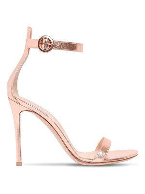 Gianvito Rossi 100mm portofino metallic leather sandals