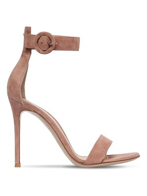 Gianvito Rossi 100mm portofino suede sandals