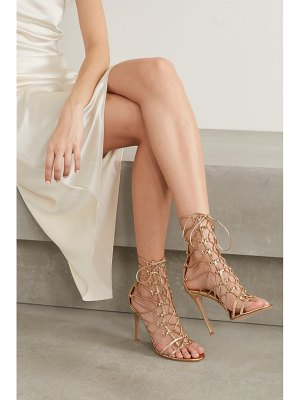Gianvito Rossi 105 metallic leather sandals