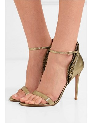 Gianvito Rossi 105 ruffled lamé sandals