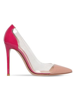 Gianvito Rossi 105mm patent leather & plexi pumps