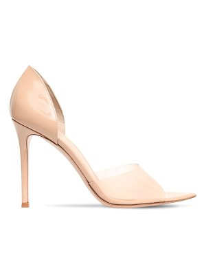 Gianvito Rossi 105mm patent leather & plexi sandals
