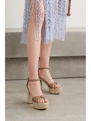 Gianvito Rossi 110 braided leather platform sandals