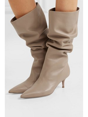 Gianvito Rossi 55 leather knee boots