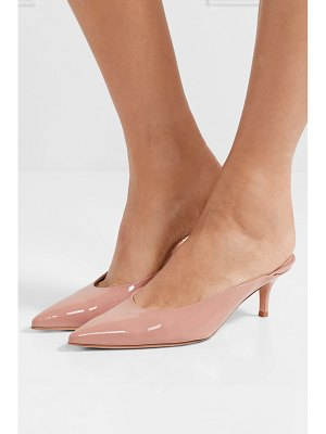 Gianvito Rossi 55 patent-leather mules