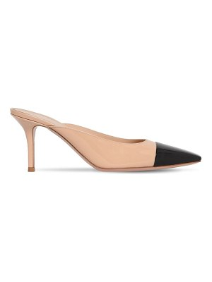 Gianvito Rossi 70mm patent leather mules