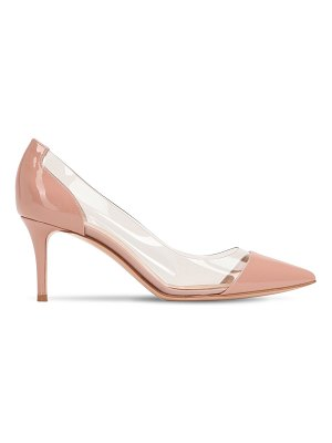 Gianvito Rossi 70mm plexi & patent leather pumps