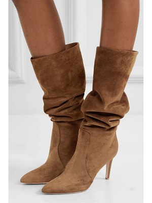 Gianvito Rossi 85 suede knee boots
