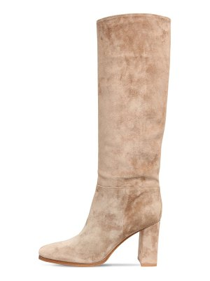 Gianvito Rossi 85mm suede tall boots