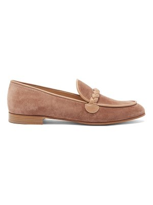 Gianvito Rossi benny leather-trimmed suede loafers