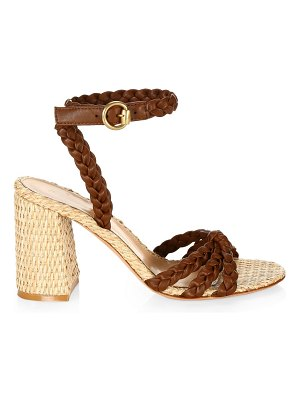 Gianvito Rossi braided colorblock metallic leather sandals