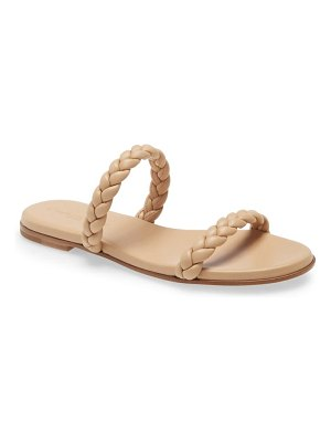 Gianvito Rossi braided double band slide sandal