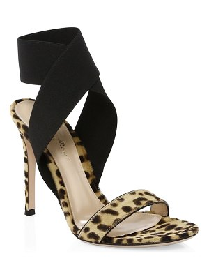 Gianvito Rossi calf hair crisscross ankle-strap sandals