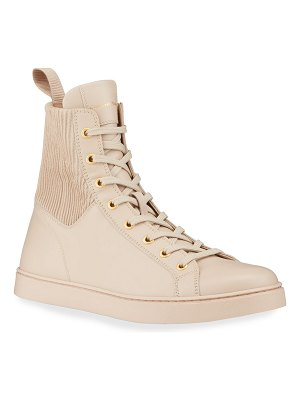 Gianvito Rossi Calfskin High-Top Sneakers