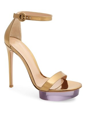 Gianvito Rossi clear platform ankle strap sandal