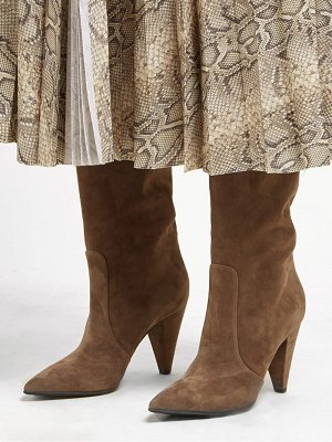 Gianvito Rossi cone heel 85 suede knee high boots