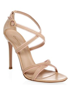 GIANVITO ROSSI Crisscross Strap Leather Sandals