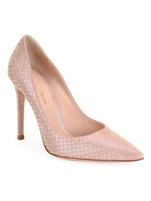 Gianvito Rossi Crystal Pointed High-Heel Pumps