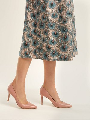Gianvito Rossi Dahlia 85 Leather Pumps