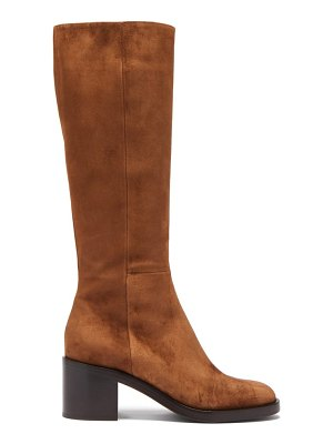 Gianvito Rossi ellington 60 zipped suede knee-high boots