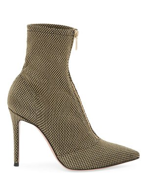 Gianvito Rossi ferrer zip-up woven metallic mesh ankle boots