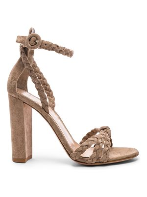 GIANVITO ROSSI For Fwrd Braided Suede Camoscio Strap Heels