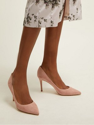 Gianvito Rossi gianvito 85 point toe suede pumps