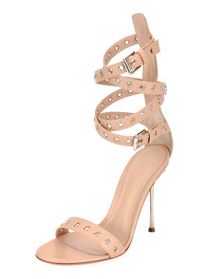 GIANVITO ROSSI Grommet Ankle-Wrap 105mm Sandal