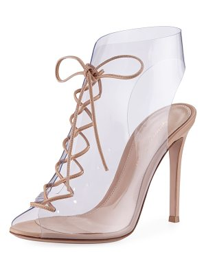 Gianvito Rossi Plexi Lace-Up 105mm Booties