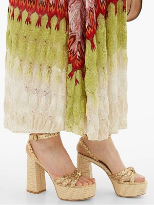 Gianvito Rossi kea 70 braided raffia platform sandals