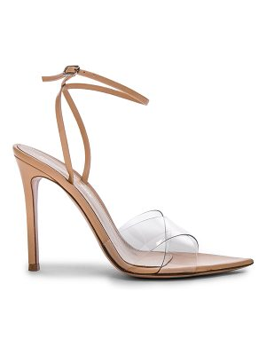 Gianvito Rossi Leather & Plexi Stark Ankle Strap Sandals