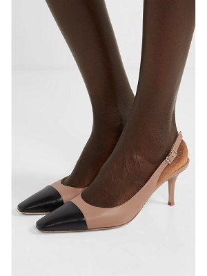 Gianvito Rossi lucy 70 two-tone leather slingback pumps