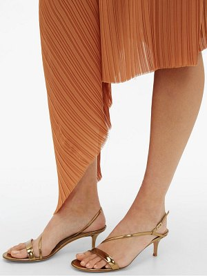 Gianvito Rossi manhattan 55 metallic leather sandals
