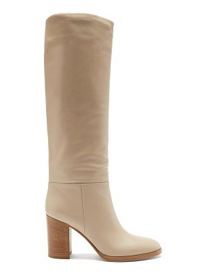 Gianvito Rossi melissa 85 leather knee-high boots