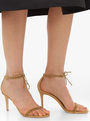 Gianvito Rossi pascale 85 crystal and metallic-suede sandals