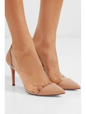 Gianvito Rossi plexi 85 leather and pvc pumps