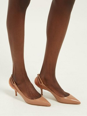 Gianvito Rossi pointed toe slingback leather pumps