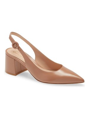 Gianvito Rossi pointed toe slingback pump