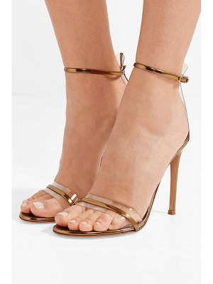 Gianvito Rossi portofino 100 pvc-trimmed metallic leather sandals