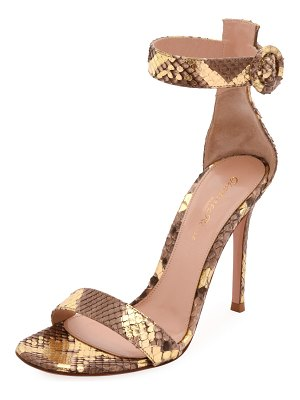 Gianvito Rossi Portofino Python 105mm Sandals