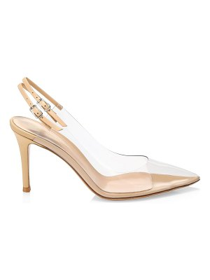Gianvito Rossi kyle pvc & leather slingback pumps