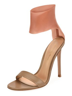 GIANVITO ROSSI Roma Leather And Latex Two-Tone Sandal