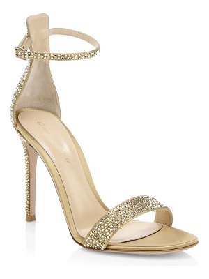 Gianvito Rossi silk crystal ankle-strap sandals/4