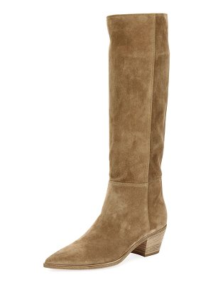 GIANVITO ROSSI Slouch Western Knee-High Boot
