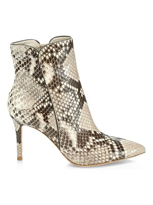 Gianvito Rossi snakeskin leather ankle boots