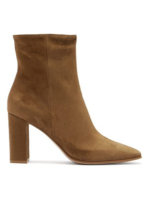 Gianvito Rossi square-toe 85 suede ankle boots