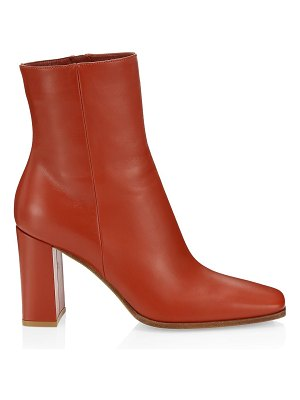 Gianvito Rossi square-toe leather ankle boots