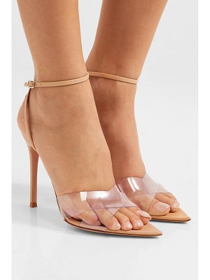 Gianvito Rossi stark 105 leather and pvc sandals