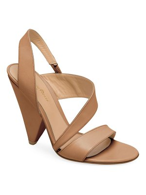 Gianvito Rossi strappy leather triangle heel sandals