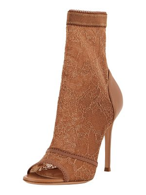 Gianvito Rossi Stretch-Lace High Booties
